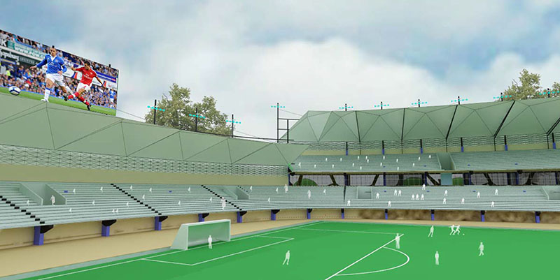 Chronos Studeos Crown Football Club Stadium Perspective View Nigeria