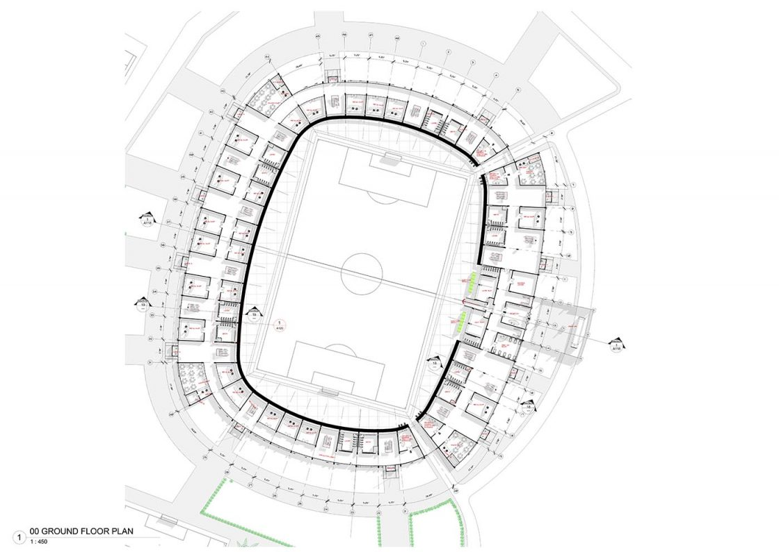 A new stadium for nigeria for Floor plans for