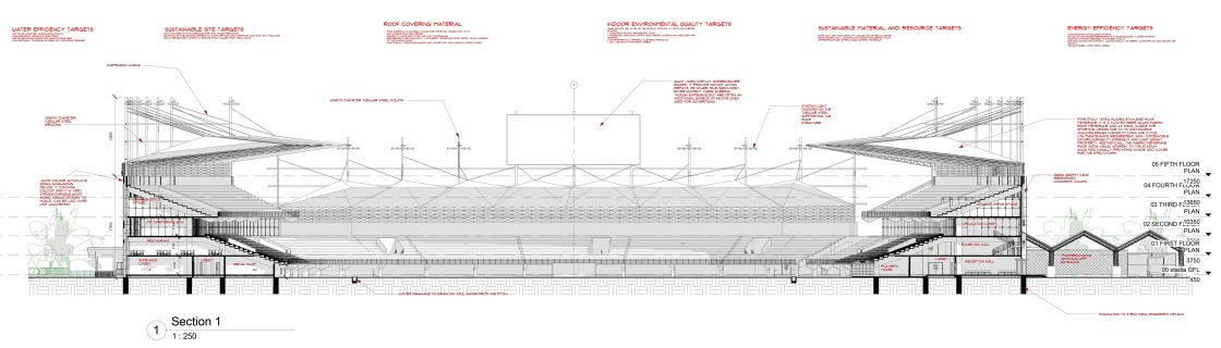 Teslim Balogun Stadium Lagos Nigeria Section 1 Plan