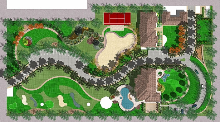 Top view of a proposed landscape design chronos studeos for Top garden designers