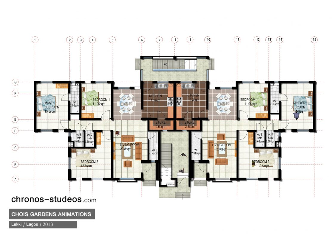 13 awesome chronos studeos projects from 2013 for Floor plans presentation