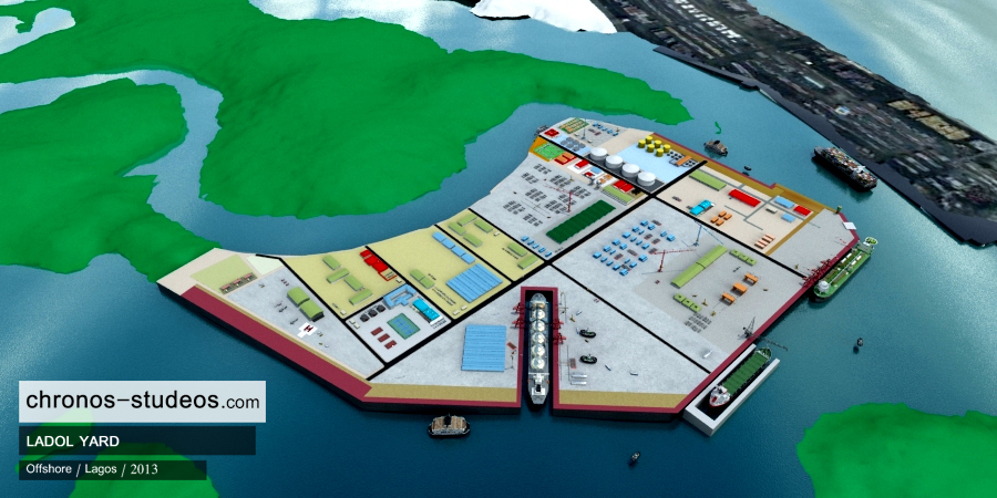 3d model of ladol island lagos offshore project (2)