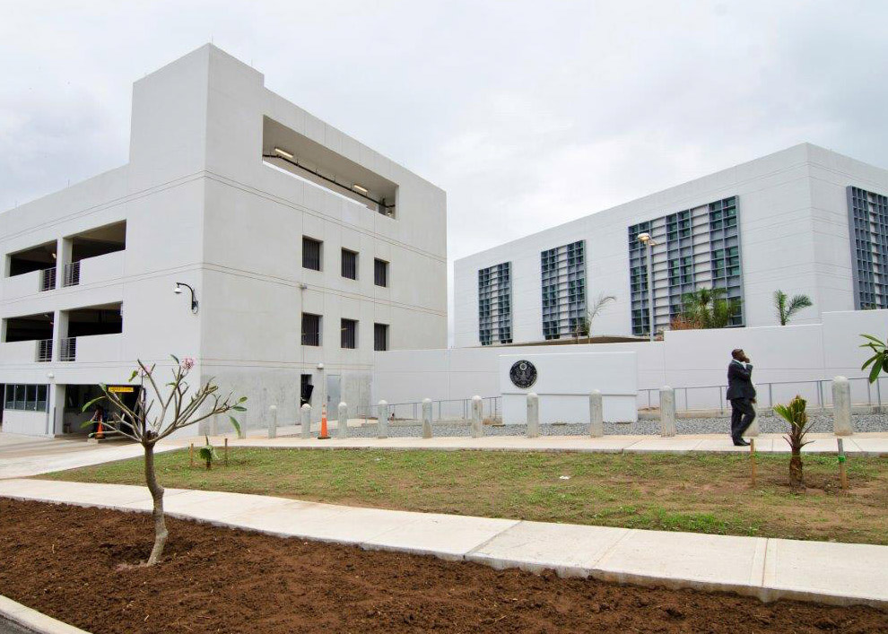 Nigeria unveils the new u s embassy annexe in abuja for Consul building