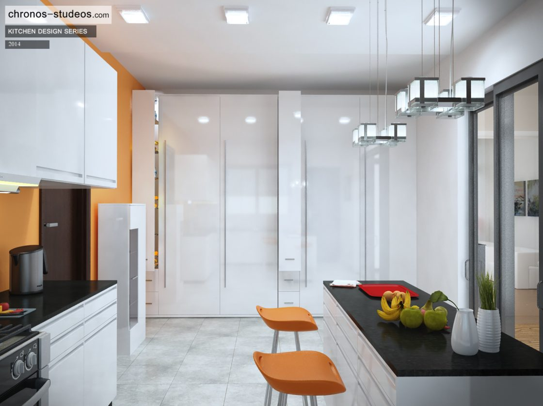 Your Home Interior Ideas: Crisp White High Gloss Kitchen Design Series