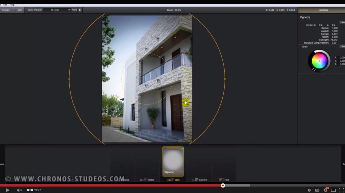Video tutorial creating realistic post production of 3d Online rendering tool
