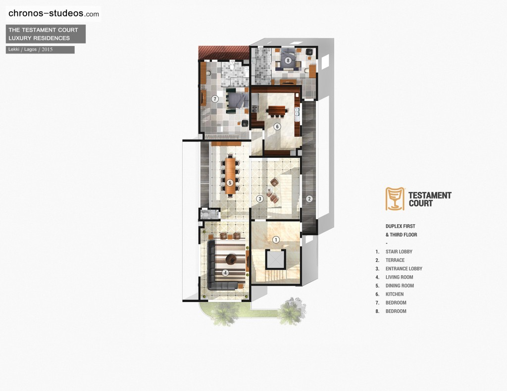 Teamchronos chronos studeos Luxury duplex floor plans