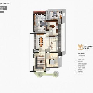 Testament Court Luxury Residences Duplex Floor Plan by   Chronos Studeos Architects
