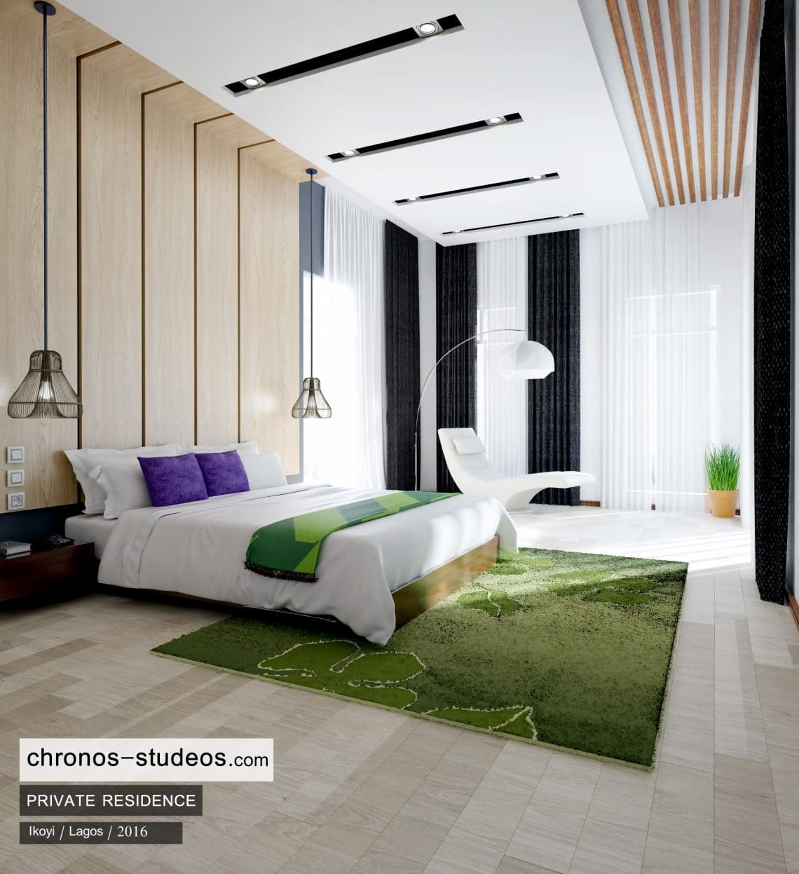 Bedroom Interior Design 3d Rendering Lagos Nigeria Chronos Studeos Architects