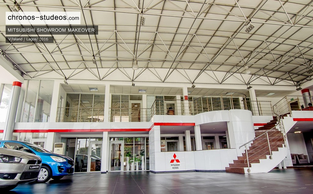 car showroom logo design interior mistubishi lagos nigeria architects chronos studeos