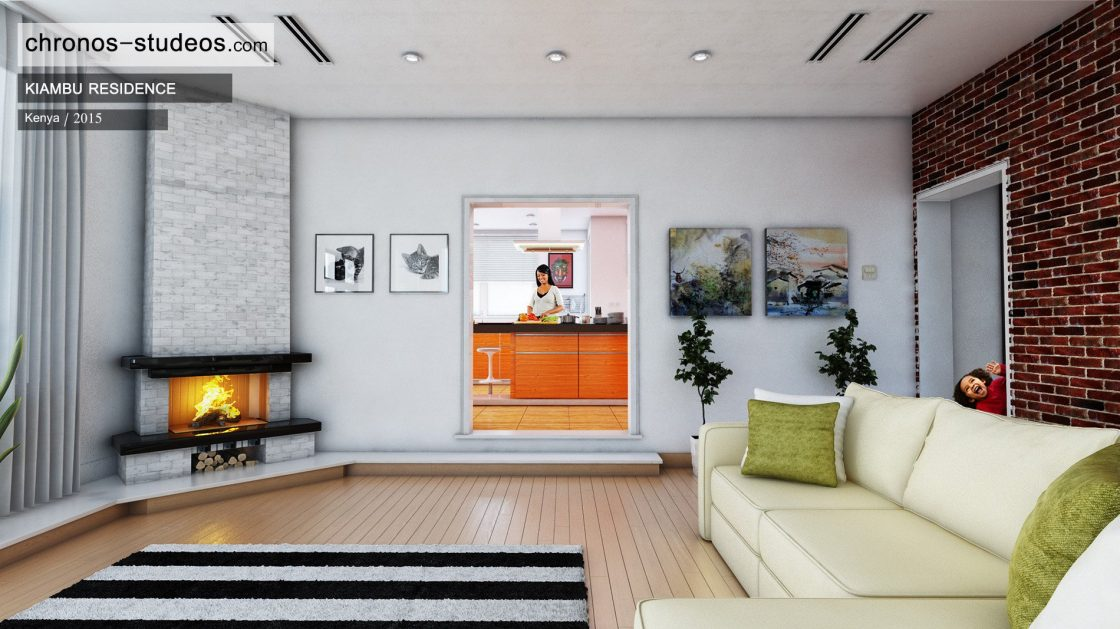 Chronos Studeos 3d Interior Living Room Rendering In Nairobi Kenya