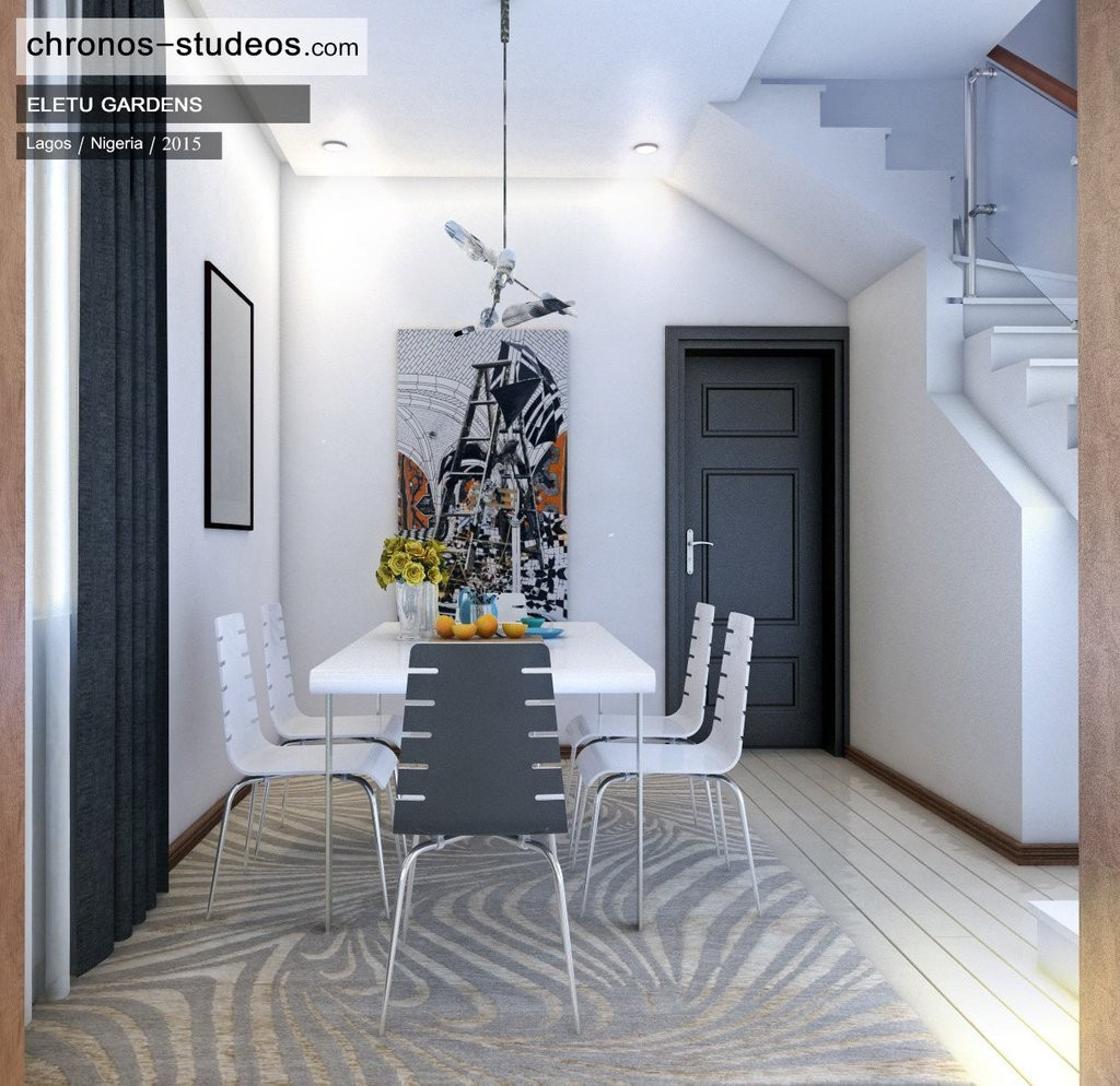 dining room 3d rendering home interior lagos nigeria