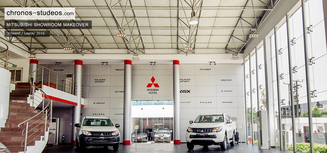 Mitsubishi Showroom Interior Design Lagos Nigeria Chronos Studeos